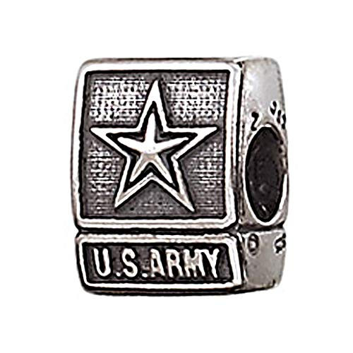 Genuine Zable (TM) Product. 925 Sterling Silver US Army Charm. 100% Satisfaction Guaranteed.