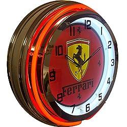 Ferrari Double Neon Clock