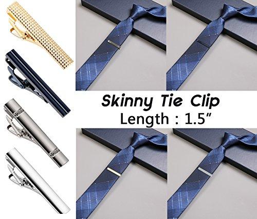 LOYALLOOK 8PCS Tie Bar Clip Set Tie Tack Pins Clips for Men Necktie Bar Pinch Clip Set Skinny Regular Ties Necktie Wedding Business Clips Mix by LOYALLOOK (Image #4)