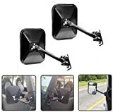 jeep side view mirrors - JoyTutus Side View Door Mirrors for Jeep Wrangler JK CJ YJ TJ 07-17 Doors off Rear Sideview Rectangular
