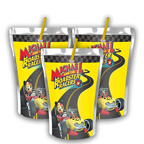 12 Personalized Mickey Mouse Party Juice Pouch Label | Mickey and the Roadster Racer Party | Birthday Supplies | Roadster Racer Caprisun Label | Capri Sun | Mickey Roadster Racers Party Favors