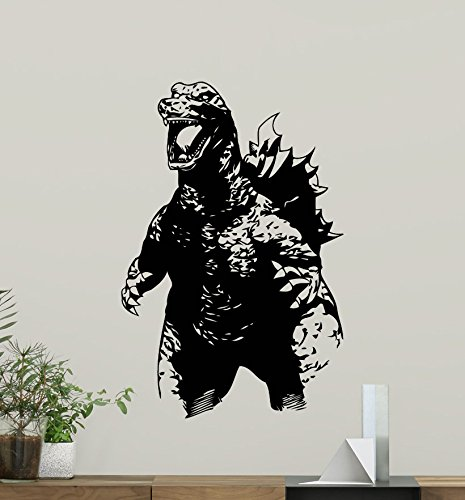 Godzilla Wall Decal Movie Monster Vinyl Sticker Bedroom Wall Art Design Housewares Kids Room Bedroom Decor Removable Wall Mural 86zzz by Carol Grey
