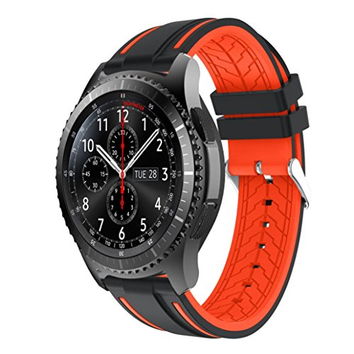 AutumnFall Bands For Samsung Gear S3 Frontier,2017 Fashion Sports Silicone Bracelet Strap Replacement Sport Wristband For Samsung Gear S3 Frontier (D)