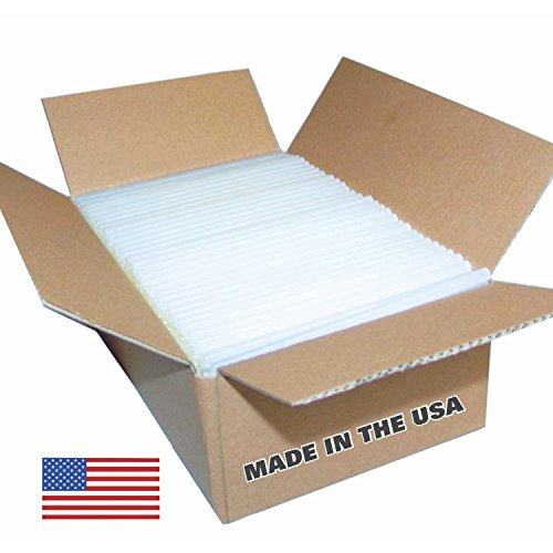 USA Glue Sticks - 5 lb Box (approx. 90 Sticks) Full Size Sticks - Clear, High Quality, Best Bond, Hot Melt Glue Sticks Made in the USA ()