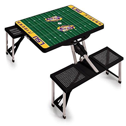 Table Ncaa Tigers Sports Lsu - NCAA LSU Tigers Digital Print Picnic Table Sport, Black, One Size