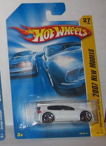 White Volkswagen Golf GTI - Hot Wheels - 2007 New Models - 027/180 #27 of - Collectible Golf