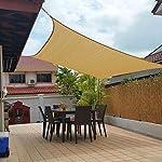 Jesasy Rectangle 10' X 20' Sun Shade Sail Fabric Patio Sail