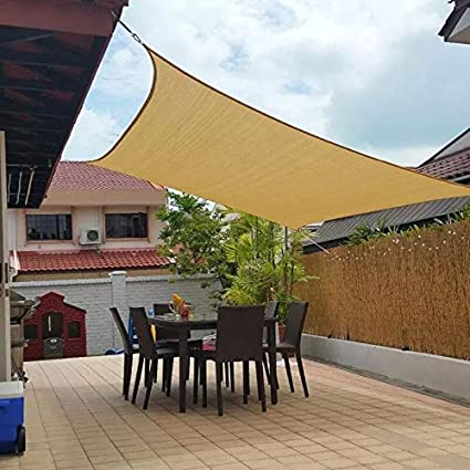 Amazon.com : Jesasy Rectangle 10\' X 20\' Sun Shade Sail, UV Block ...
