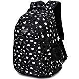 MATMO Love Heart and Glasses Printing Student Backpack School Bag for Teen Girls