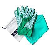 Thorium Green Gardening Heavy Duty Arm Sleeve Protectors Prevents Skin Irritation Scrapes UV Protection Lycra Comes Complete with Gloves & Storage Bag