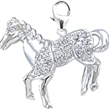 14K DIAMOND HORSE CHARM- WHITE GOLD