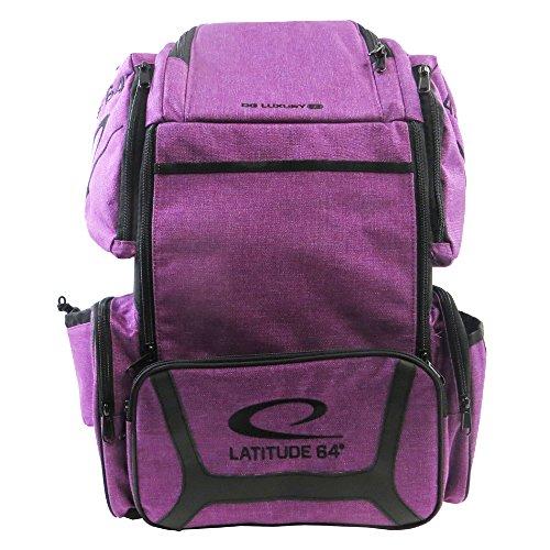 E3 Travel Bag - Latitude 64 Golf Discs DG Luxury E3 Backpack Disc Golf Bag - Purple/Black