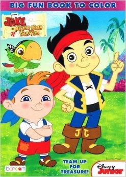 Disney Junior Big Fun Book to Color ~ All Me Mateys! (Jake & the Never Land Pirates)