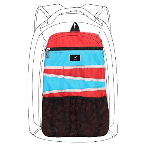 Hynes Eagle Universal Backpack Insert Organizer Travel Bag Slip Gadget Organization Kit Red mix Blue