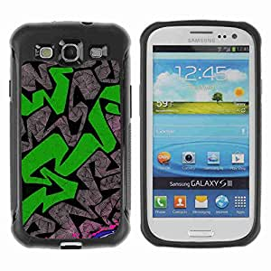 A-type Arte & diseño Anti-Slip Shockproof TPU Fundas Cover Cubre Case para Samsung Galaxy S3 III / i9300 / i717 ( Graffiti Pattern )