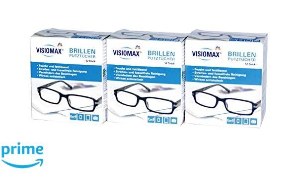 Toallitas Limpiadoras Para Gafas - húmedas y fettlösend para una limpieza streifenfreie - 156 unidades - 3 Pack (3 x 52 unidades) - para todas las lentes ...