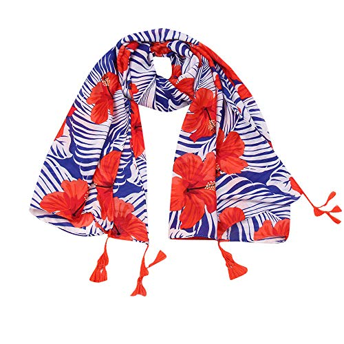 Fashion Scarfs for Women Hot Sale,DEATU Girls Floral/Plaid Printing Scarf Female Retro Multipurpose Shawl Scarf(a-A) (Hermes Cashmere Scarf)