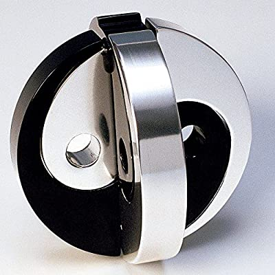 Bits and Pieces - Black/Silver Yin and Yang Metal Brainteaser Puzzle-Metal Puzzle Brainteaser, Nickel-Plated - Measures 2-1/2