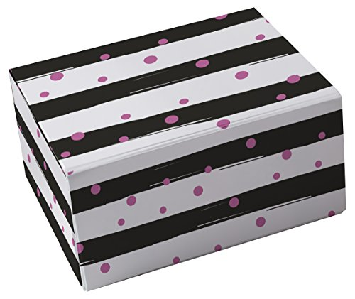 Snap-N-Store Storage Box 3-Piece Set, Small/Medium/Large, Stripes & Pink Dots (SNS03324)