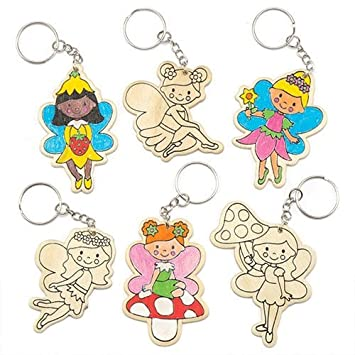 f066fd2042868 Fairy Wooden Colour-in Keyrings for Children to Decorate - Make Your ...