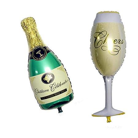 AOLVO - Juego de Globos para Botella de champán, 32.4 ...