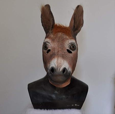 Latex Réaliste Âne Tête Masque de Fête Halloween