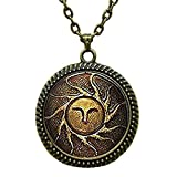 Dark Souls Necklace Heirs Of The Sun Dark Souls II Necklace Glass Cabochon Necklace
