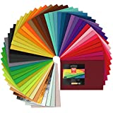 """ARTEZA 50 Assorted Stiff Felt Fabric Sheets, 8.3""""x11.8"""" Squares, 1.5mm Thick for DIY Crafts, Sewing, Crafting Projects"""