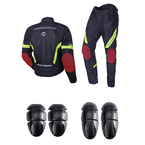 ETbotu Men Motorcycle Riding Suits Men's Cycling Jersey Suit Cross-Country Race Protective Clothes Set with Reflective Line