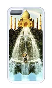 King-Diy Abstract Taj Mahal Custom White iPhone D7QccQOERaM 5C case cover and Cover hongguo's case cover