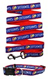 Kansas Jayhawks Nylon Pet Collar and Matching Leash for Pets (NCAA Official by Pets First) Size Large