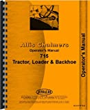 Allis Chalmers 715 Backhoe Loader Operators Manual