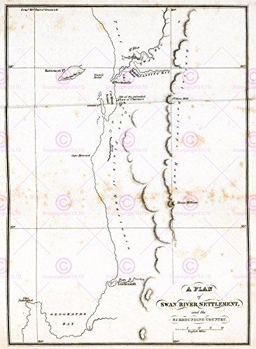 map-antique-1831-swan-river-settlement-australia-replica-poster-print-pam0290