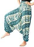 Harem Yoga Pants Dance Gypsy mc Hammer Pants For Women Green Color Size 0-14 US