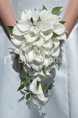 Amazon Com Silk Blooms Ltd Gorgeous White Calla Lily Jasmine