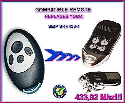 Price comparison product image SEIP SKR433-1 compatible remote control replacement transmitter, 433.92Mhz rolling code keyfob