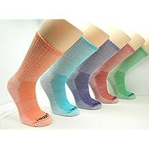 Women's Merino Wool Colorful Hiking Socks (Assorted 3PK)