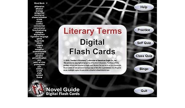 Amazon.com: Novel Guide Literary Terms Digital Flash Cards ~ CD ...