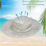yingyi Summer Cooling Hat Wide Brim Sunscreen Hydro Cooling Sun Cap with Anti UV Feature for Men Women Hot Weather Gardening Yard Beach Outdoor Planing Hiking Fishing Camping (1pcs Hat)