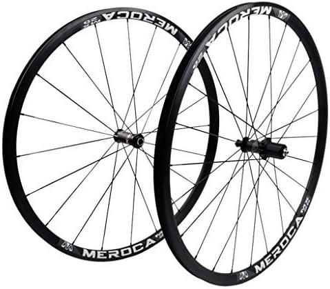 GXFWJD CX ロードバイクホイールセット700C Vブレーキ 自転車の車輪 ダブルウォールアロイリム25mm シールドベアリング QR ために カセットフライホイール 7-11速度 1805g