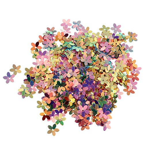 (Fenteer DIY Colorful Plastic Glitter Sprinkles Flower Confetti Party Balloons Table Scatter Decoration -)