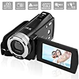 GordVE-KINGEAR Mini DV C8 16MP High Definition Digital Video Camcorder DVR 2.7'' TFT LCD 16x Zoom Hd Video Recorder Camera 1280 x 720p Digital Video Camcorder(Black)