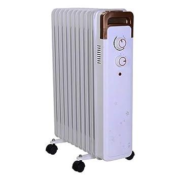 DW&HX Radiador de Aceite, Portátil Electrico Radiador de Aceite Calentador de Espacio con termostato para