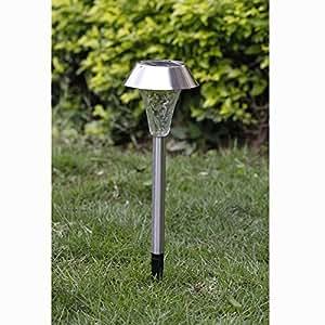 Zytree(TM)Hot New 10pcs Solar Panel LED Stainless Steel Solar Light Landscape Outdoor Garden Path Lawn Lamp