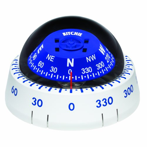 - Ritchie XP-99W Kayaker Compass - Surface Mount - White