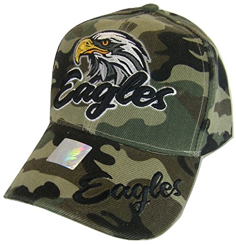 Men's Eagles Adjustable Baseball Cap (Military Camo)