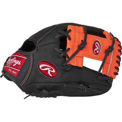 Rawlings Sporting Goods Select Pro Lite Baseball Mitt Spl150-6/0, 11.5, Black/Orange