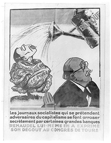(HistoricalFindings Photo: French Political Cartoon,Renaudel,Socialist Leader,Watering can,1935?)