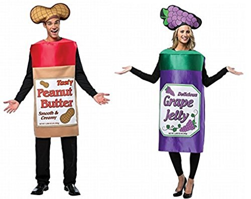 Adult Peanut Butter and Jelly Couples Costumes -