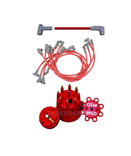 Excellent Amazon Com Msd 35659K1 Cap Rotor 8 5 Red Wire Set Small Block Wiring Cloud Hisonuggs Outletorg